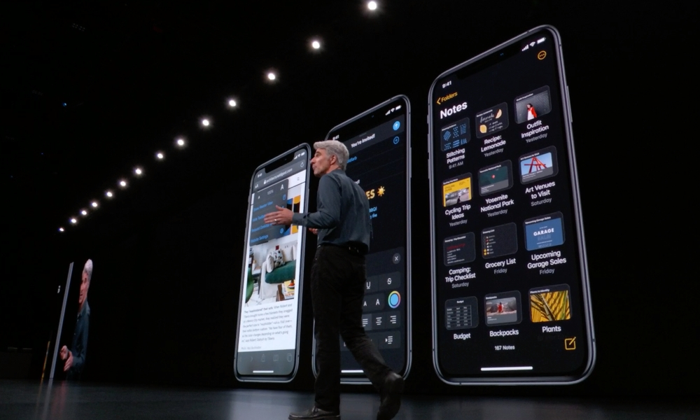 iOS 13 Notes On Stage
