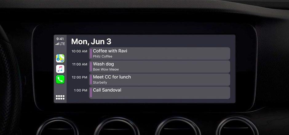 Apple Carplay Ios 13 Calendar