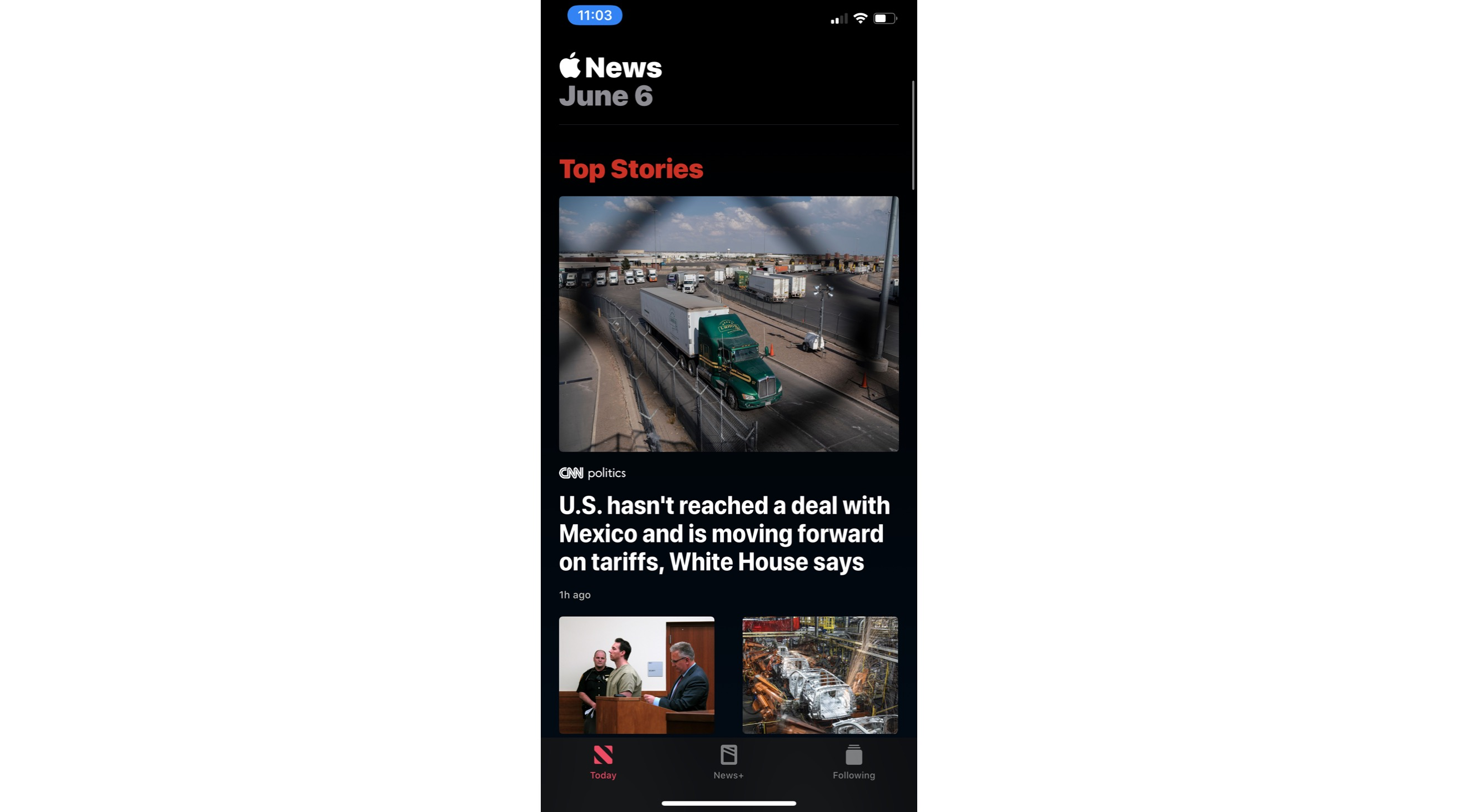 Dark Mode Apple News