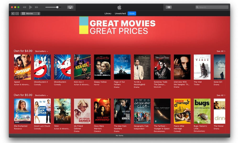 Itunes Movie Sale
