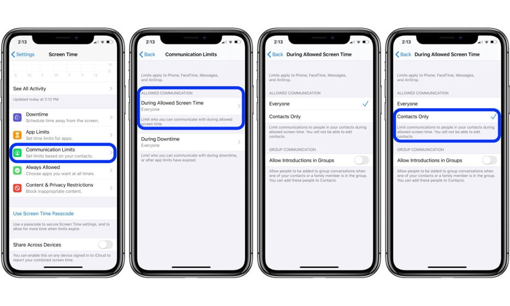 Ios13 Screen Time Communication Limits 2