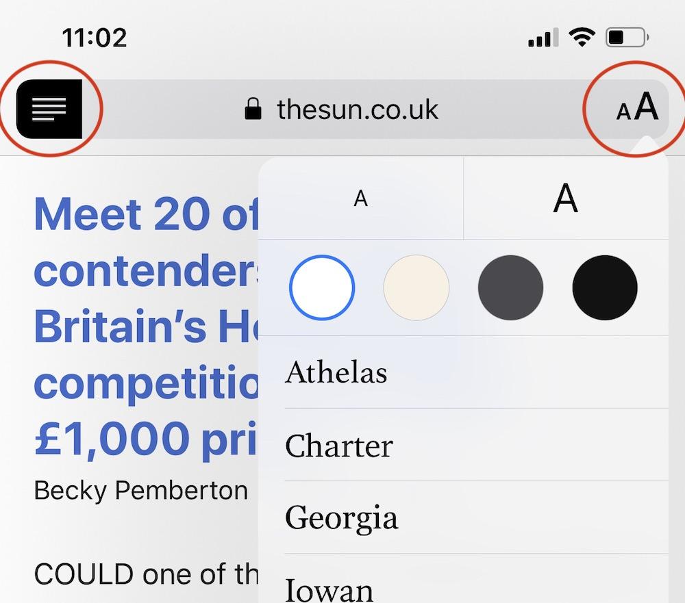 Reader Mode Ios