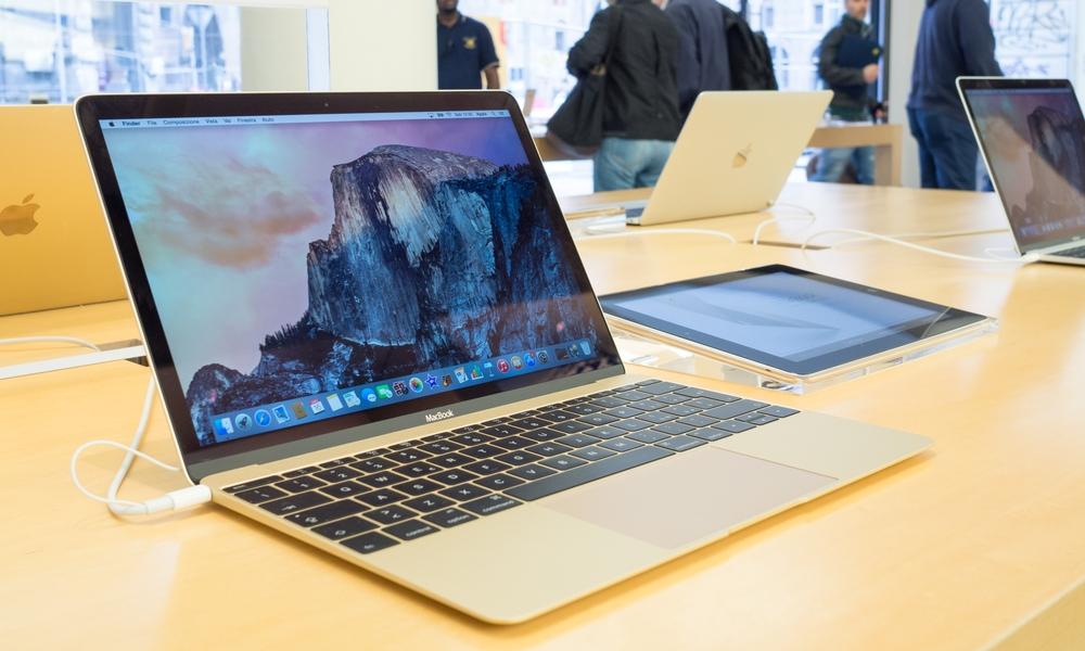MacBook on Display In Apple Store
