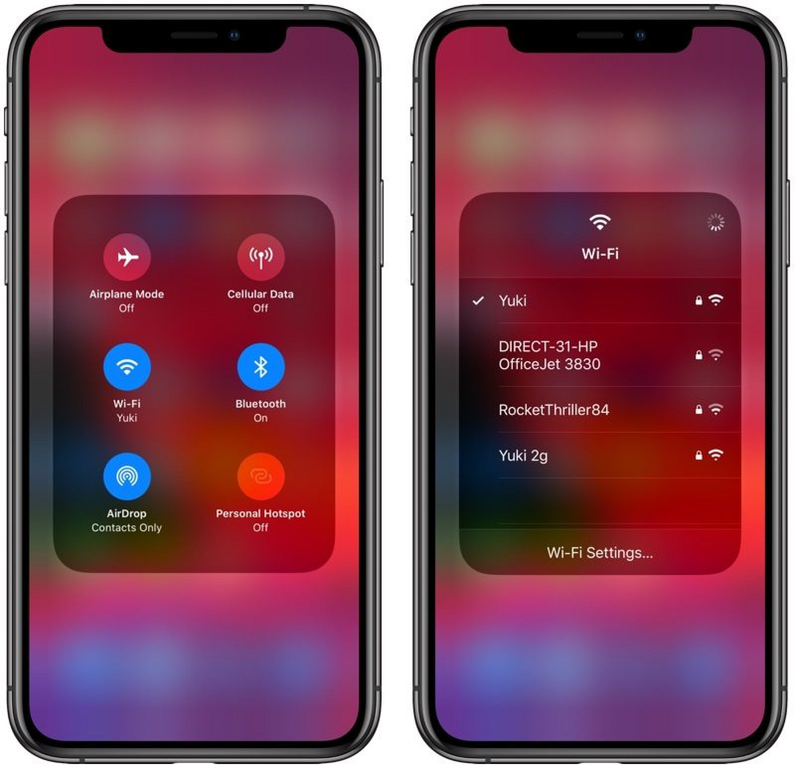 Control Center Wifi iOS 13