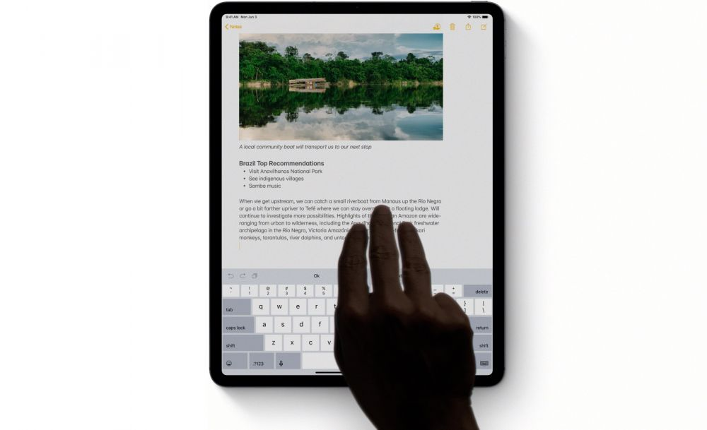 Three Finger Undo Gesture iOS 13