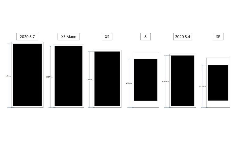 2020 iPhone Size Comparison