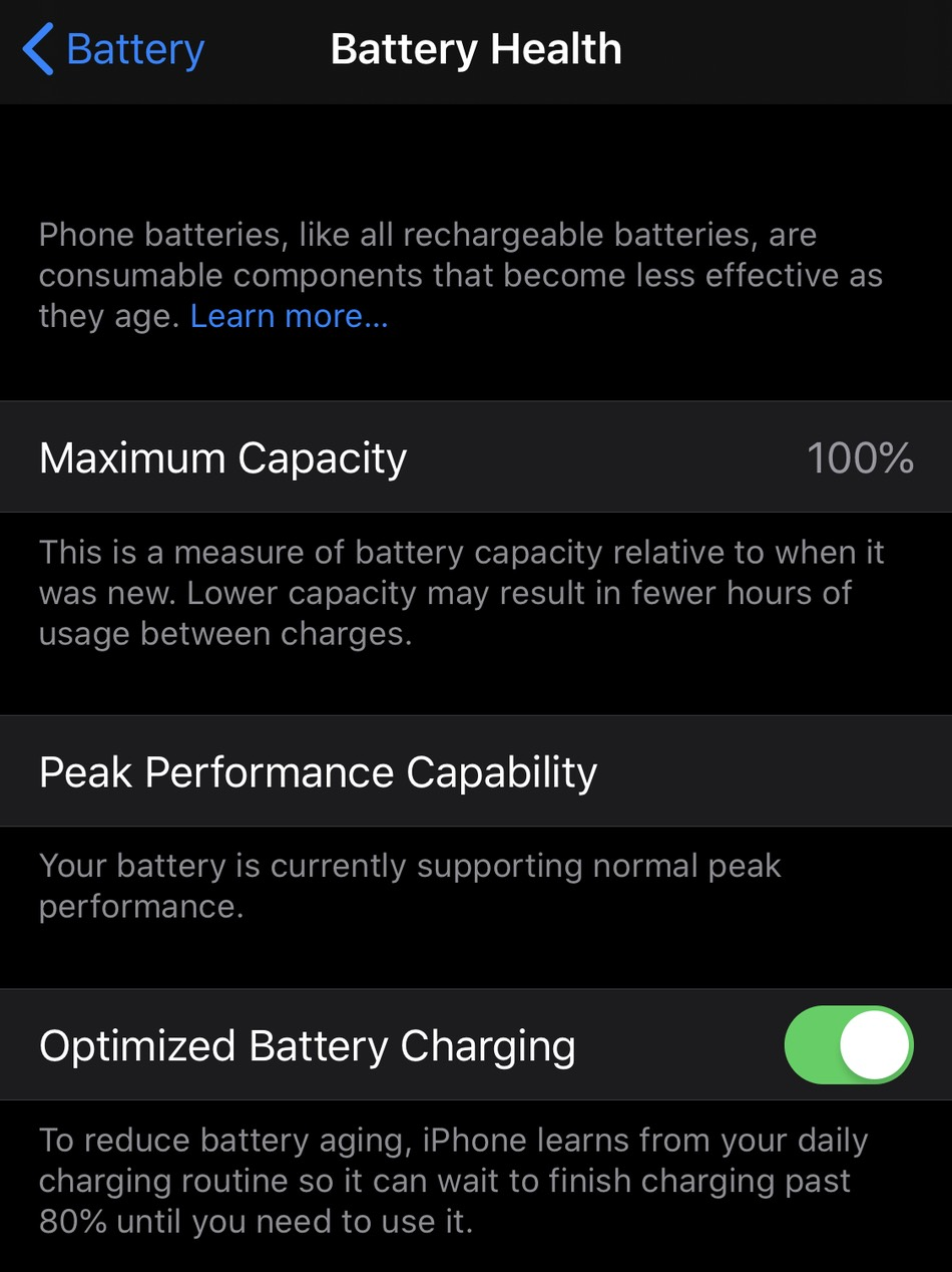 Optimized Battery Charging Ios 13