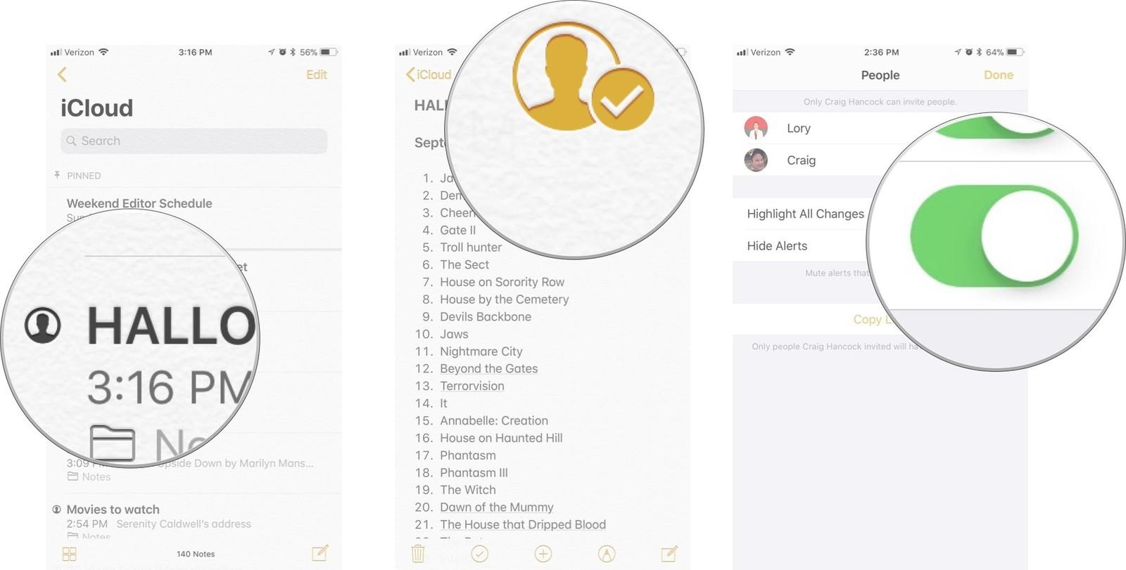 Sharing Notes App