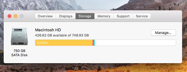 Macbook Pro Storage Capacity