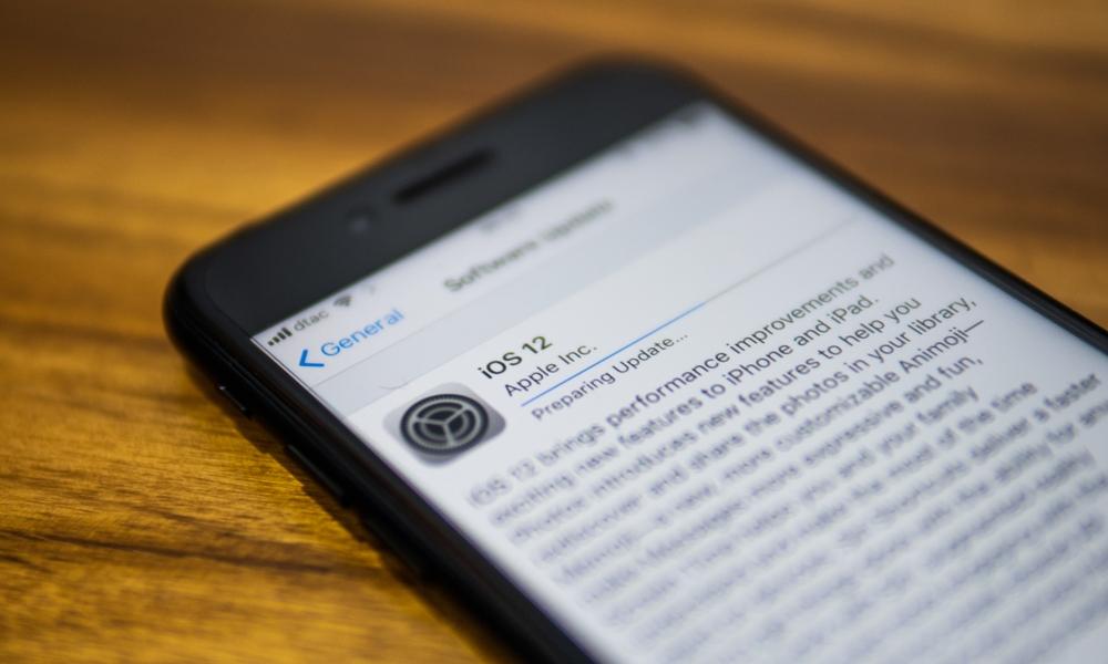 Iphone Running Ios 12 Update