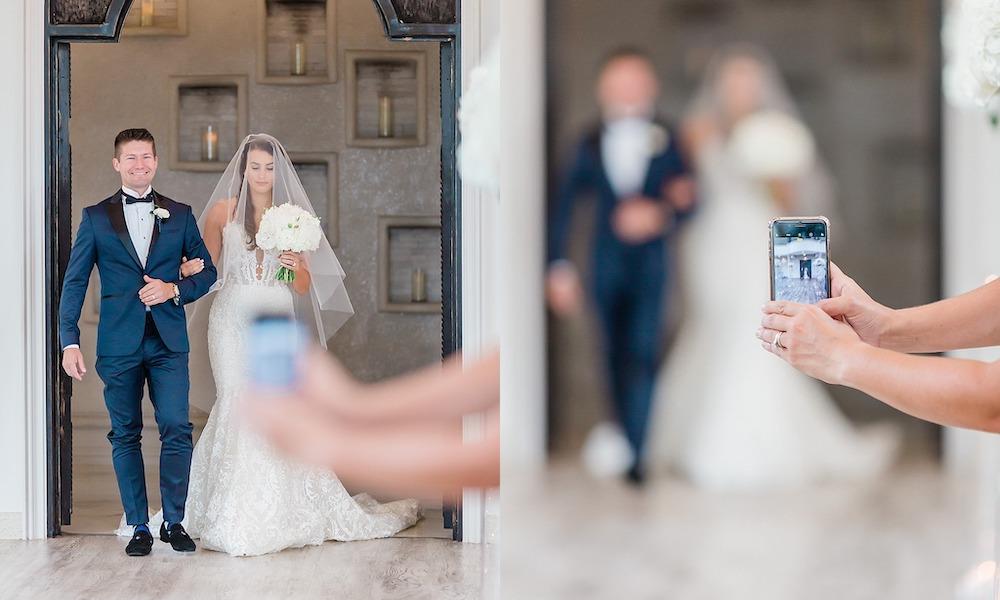 Iphone Ruins Wedding Photo
