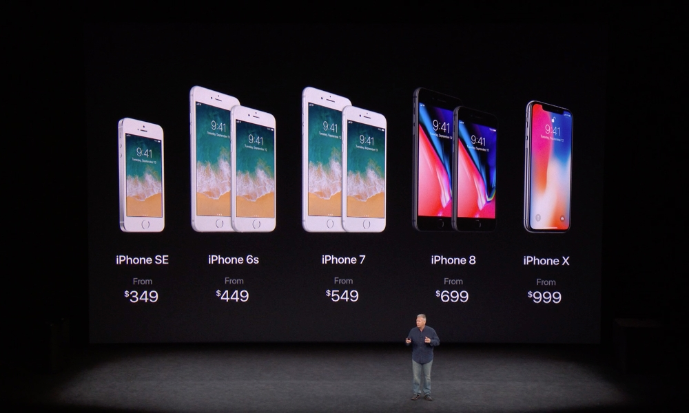 2017 iPhone Lineup On Stage