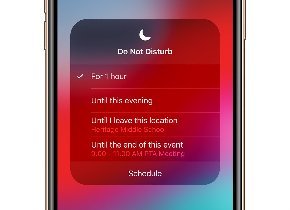 Iphone Do Not Disturb Location