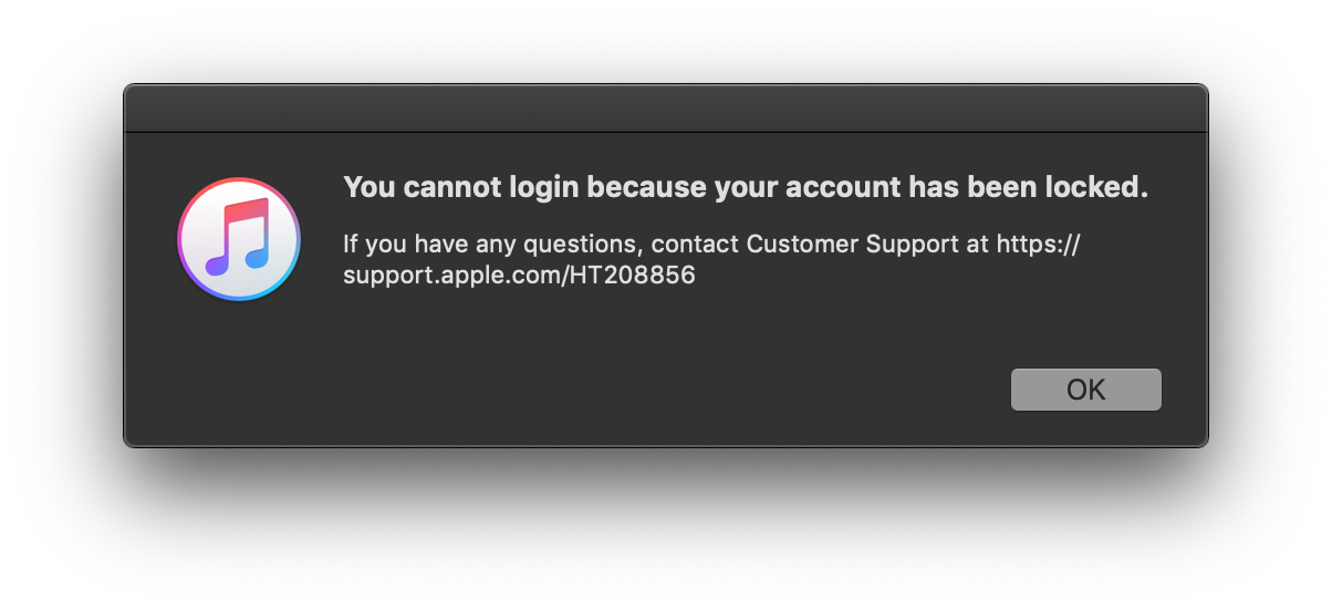Locked Out of ITunes