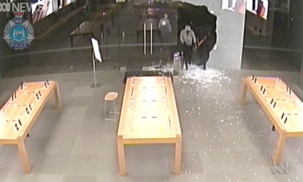 Thieves Robbing Apple Store