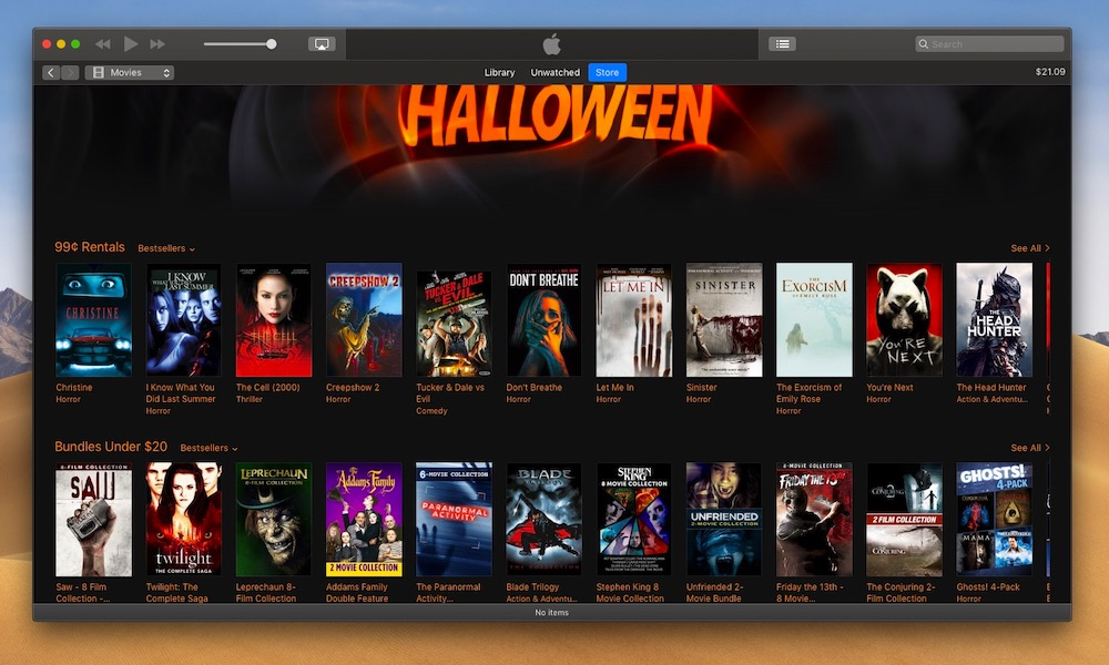 Itunes Halloween Horror Movie Sale