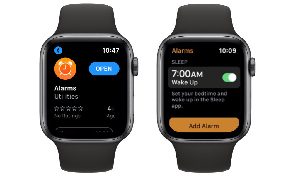 Apple Watch Alarms Sleep App