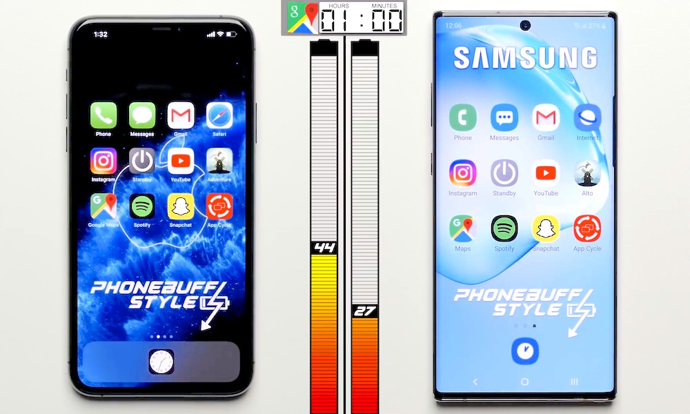 iPhone 11 Pro Max Battery Life vs Galaxy Note 10