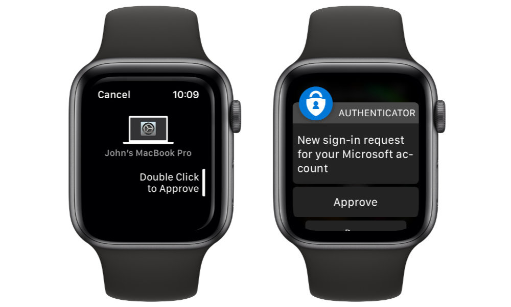 Apple and Microsoft Apple Watch Authentication