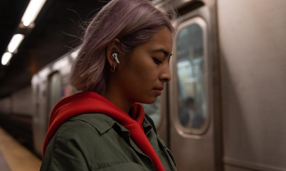 Woman Wearing AirPods Pro