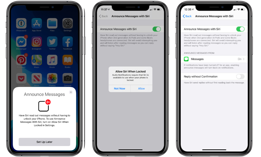 AirPods Pro Announce Messages With Siri