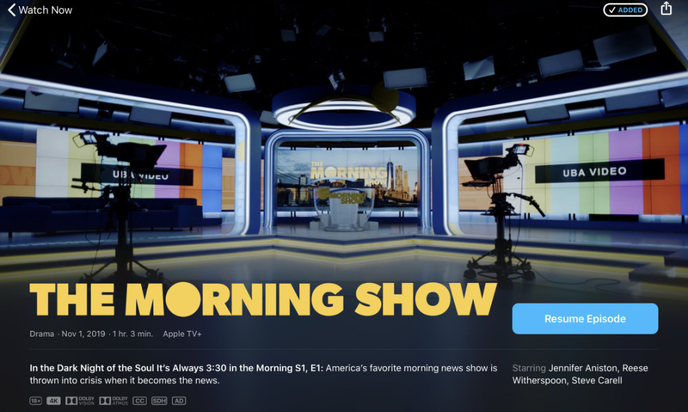 The Morning Show on Apple TV