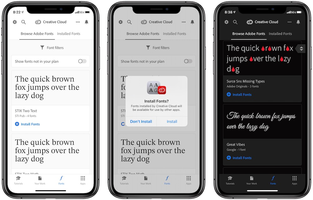 How to Download and Use 1,300 Free Fonts from Adobe on iOS and iPadOS