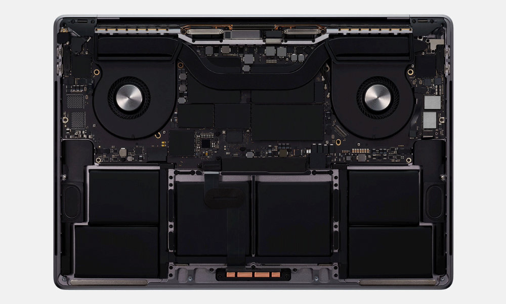 Apple 16-inch Macbook Pro thermal cooling design