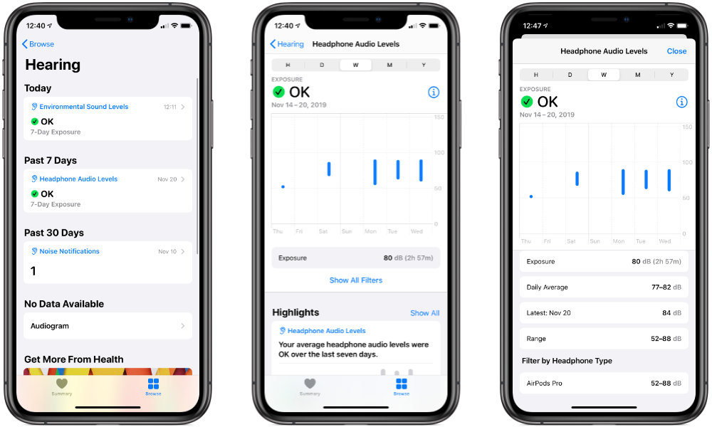 iOS 13 Hearing Health