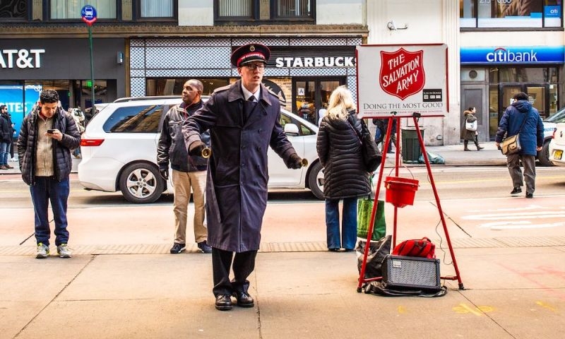 No Cash? Salvation Army Red Kettles Now Accept Apple Pay, Google Pay