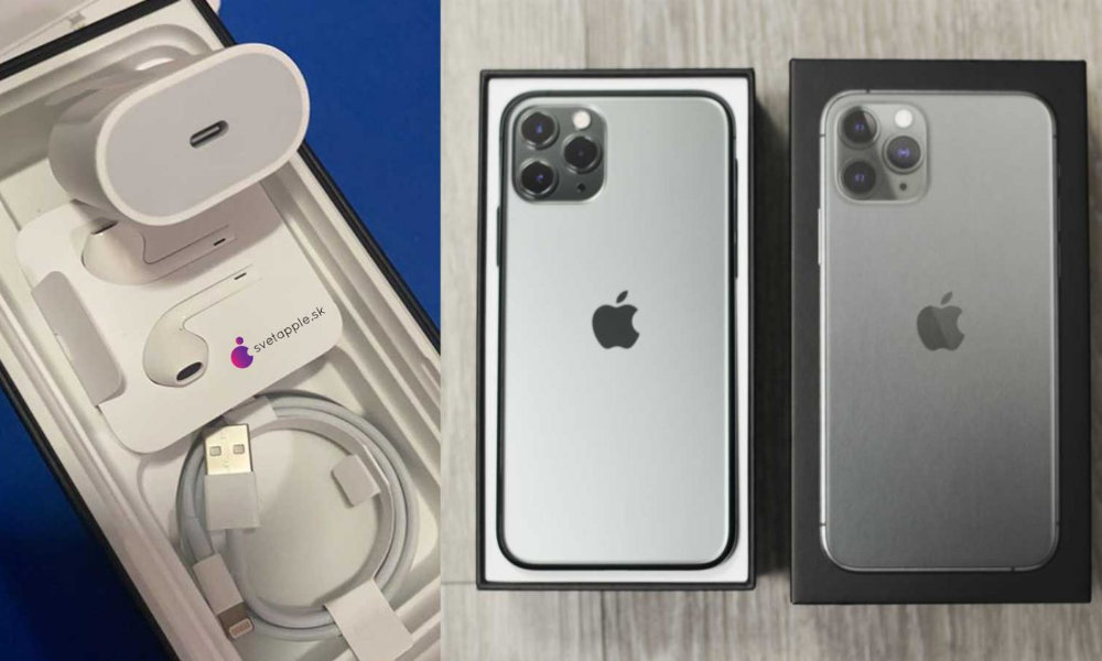 iPhone 11 Pro Max with USB-A cable