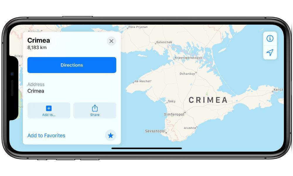 Apple Maps Crimea