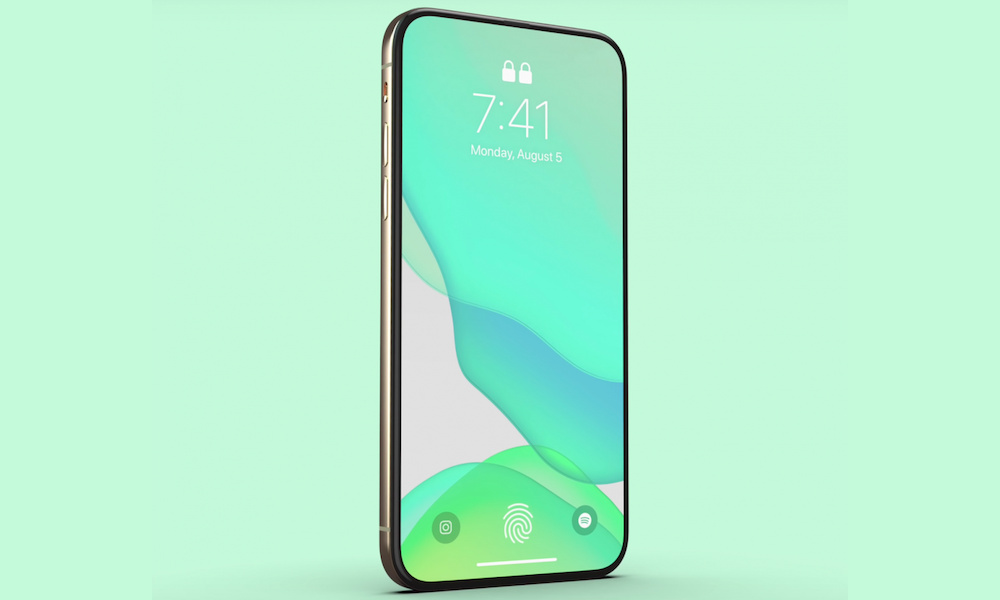 2020 iPhone Concept with Ultrasonic Touch ID and Face ID