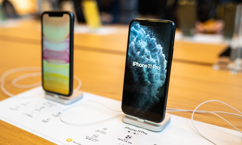 iPhone 11 Pro in Apple Store