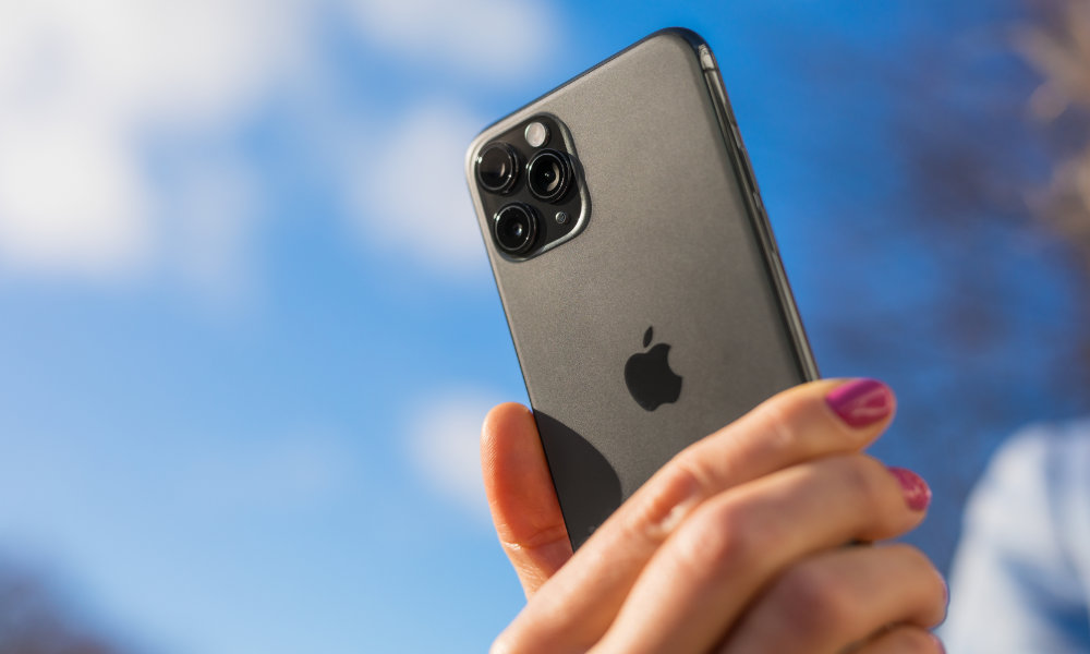 Woman Holding iPhone 11 Pro
