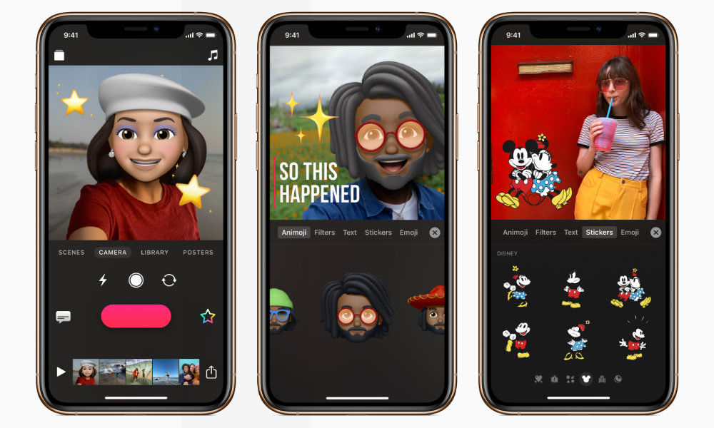 Apple Clips app with Animoji and Memoji