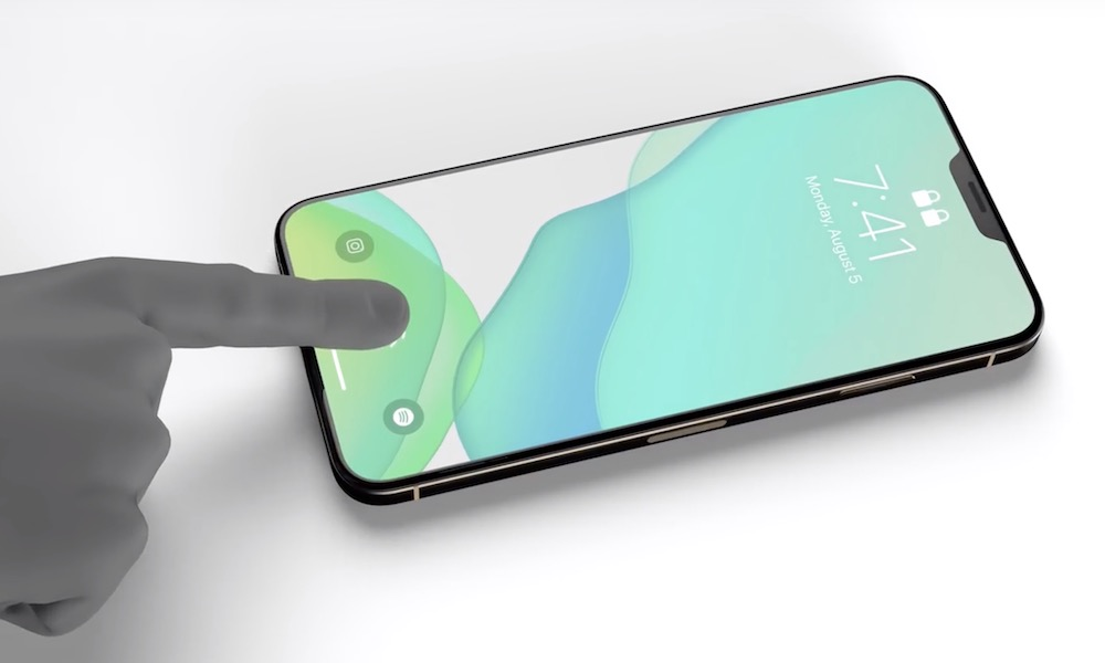 iPhone 12 Concept In Display Fingerprint Reader Touch ID Face ID