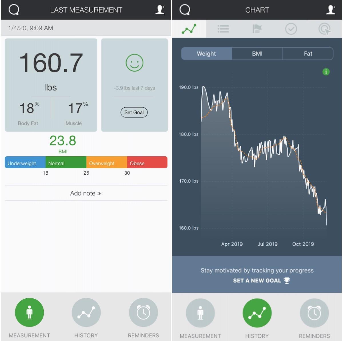 Qardio Base Weight Loss App