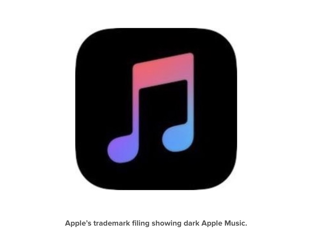Apple Music Dark Mode Logo