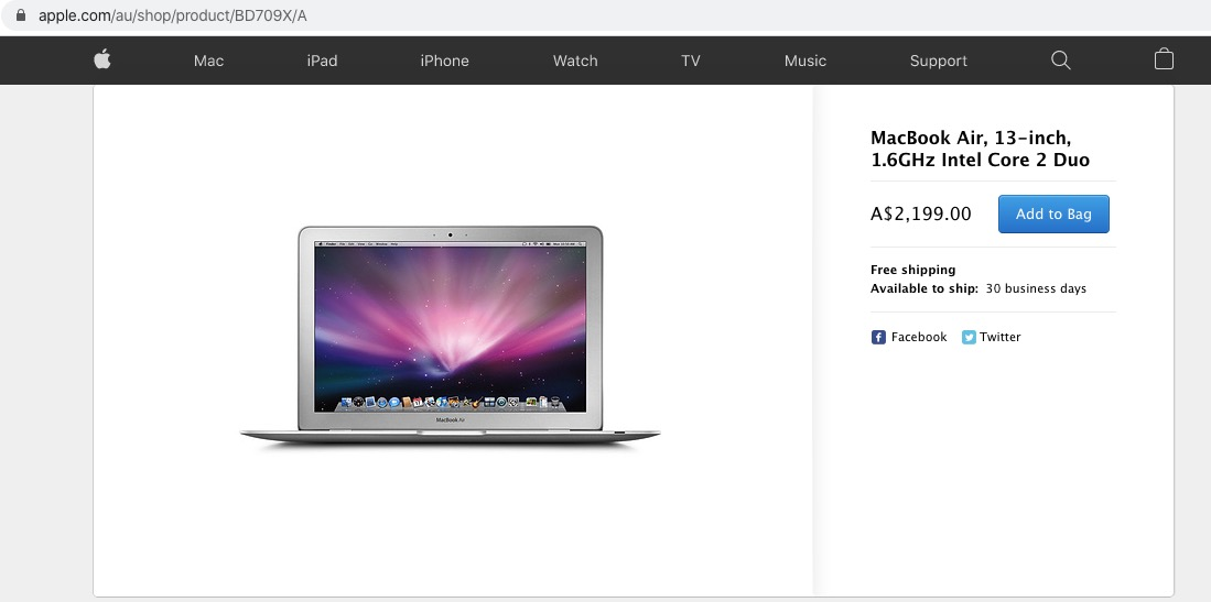 Apple Online Store Hiccup Allows MacBook Air to Be Added to Your Shopping Cart 2