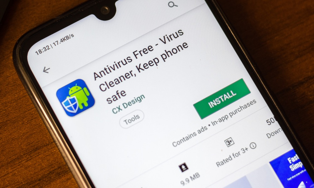 Antivirus App on Android Phone