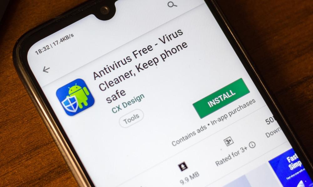 Antivirus App on Android Phone