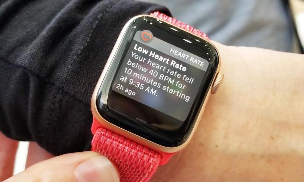 Low Heart Rate Apple Watch Alert