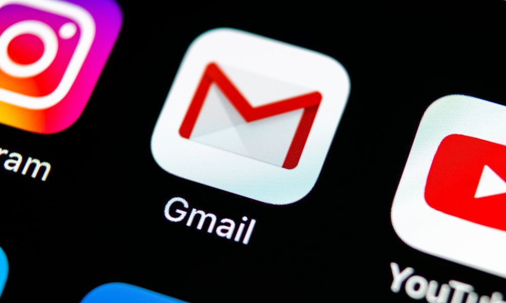 Gmail icon on home screen