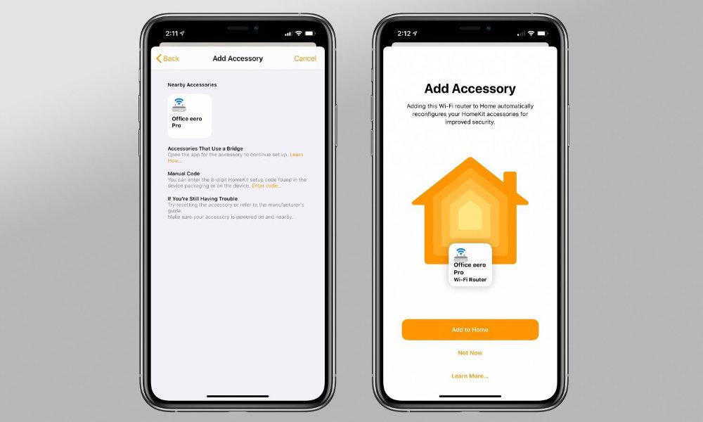 eero homekit router in home app