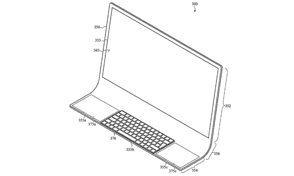 Apple patent all glass iMac front