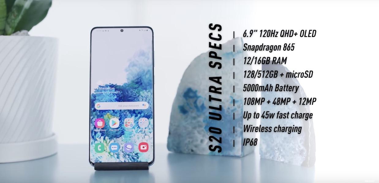 Samsung Galaxy S20 Ultra Specs