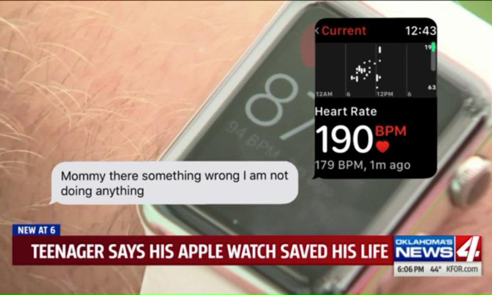 Skylar Joslin Apple Watch 190 bpm text message