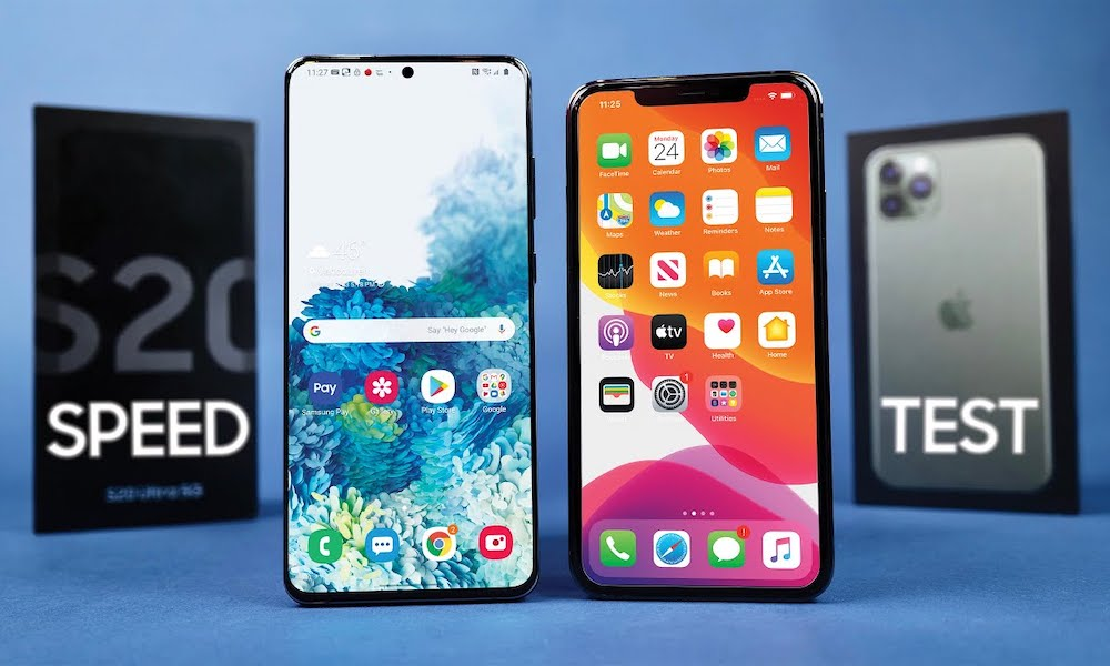 Galaxy S20 Ultra vs iPhone 11 Pro Max Speed Test