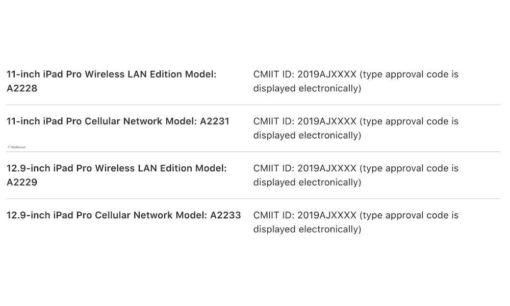 New iPad Pro models from Chinese Apple user manual
